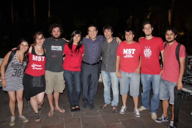 Tsipras con JS del Mst
