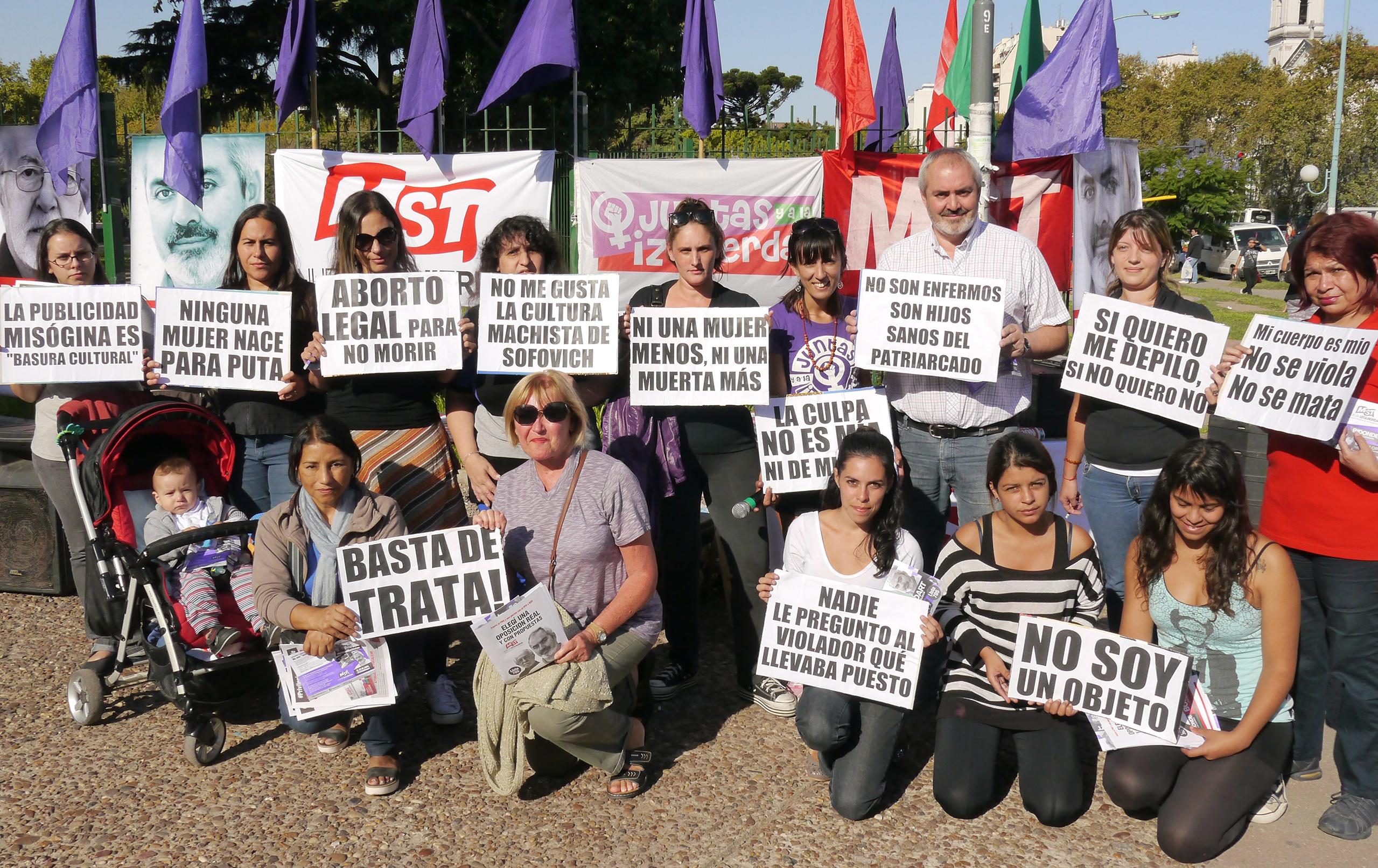 Esta tarde en el marco de la jornada contra la violencia a las mujeres que organiza el mst nueva izquierda en los principales parques de la ciudad
