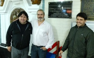 Bodart, Segovia y Tignanelli placa subte